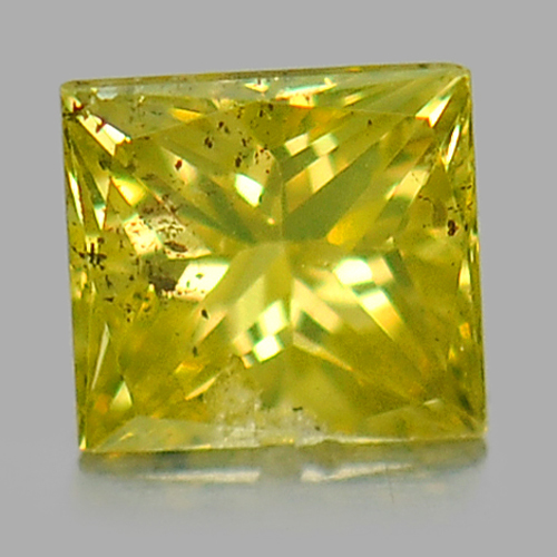 0.10 Ct. Good Cutting Natural Yellow Loose Diamond Baguette Princess Cut