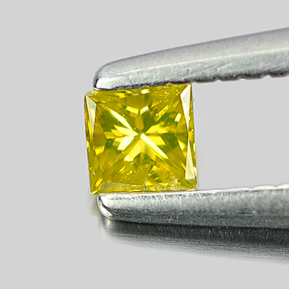 0.10 Ct. Good Color Natural Yellow Loose Diamond Baguette Princess Cut
