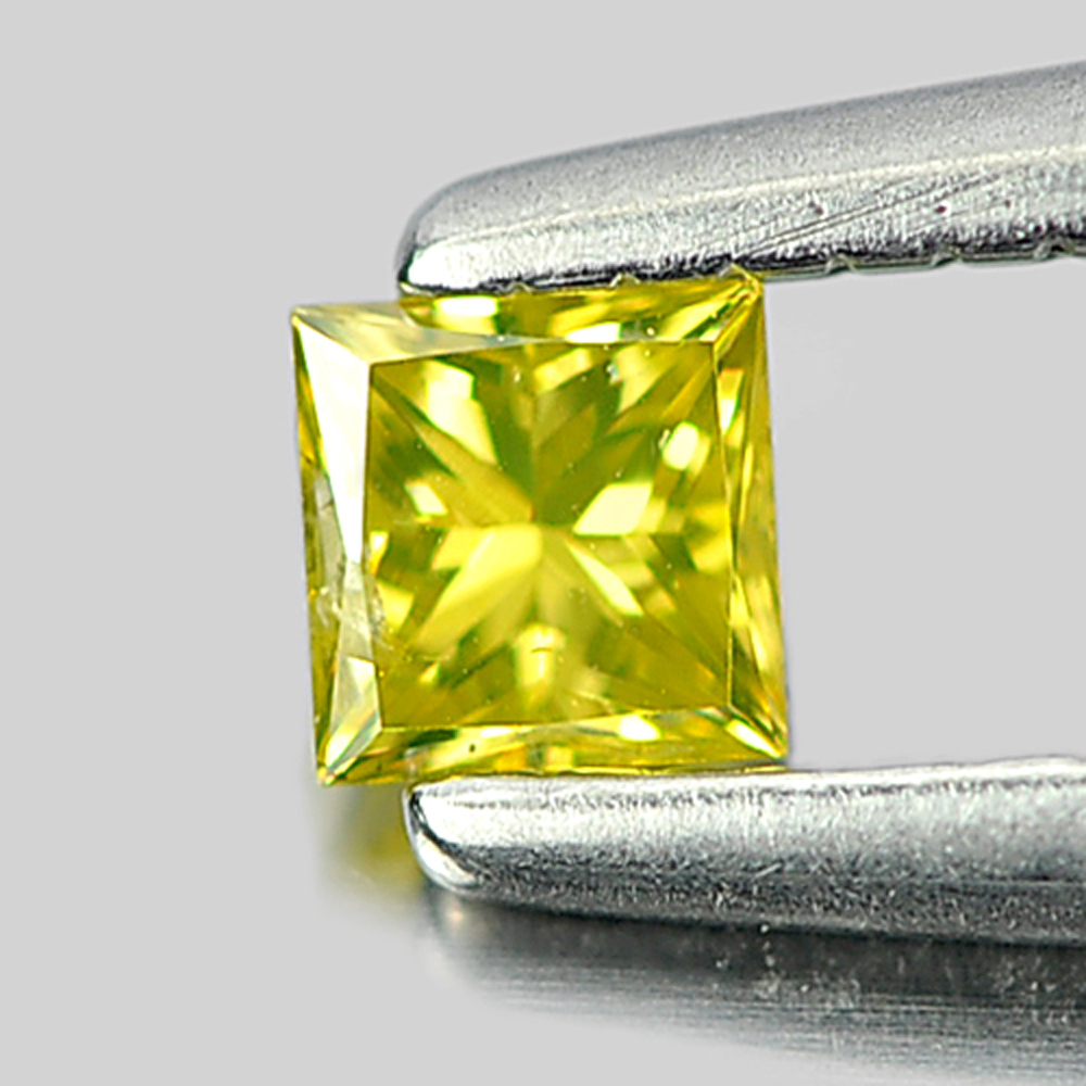 0.12 Ct. Good Cutting Natural Yellow Loose Diamond Baguette Princess Cut