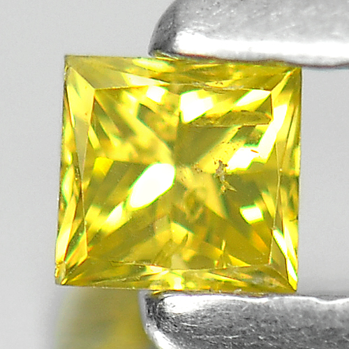 0.14 Ct. Baguette Princess Cut Natural Yellow Loose Diamond