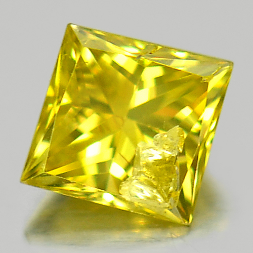 0.12 Ct. Charming Natural Yellow Loose Diamond Baguette Princess Cut