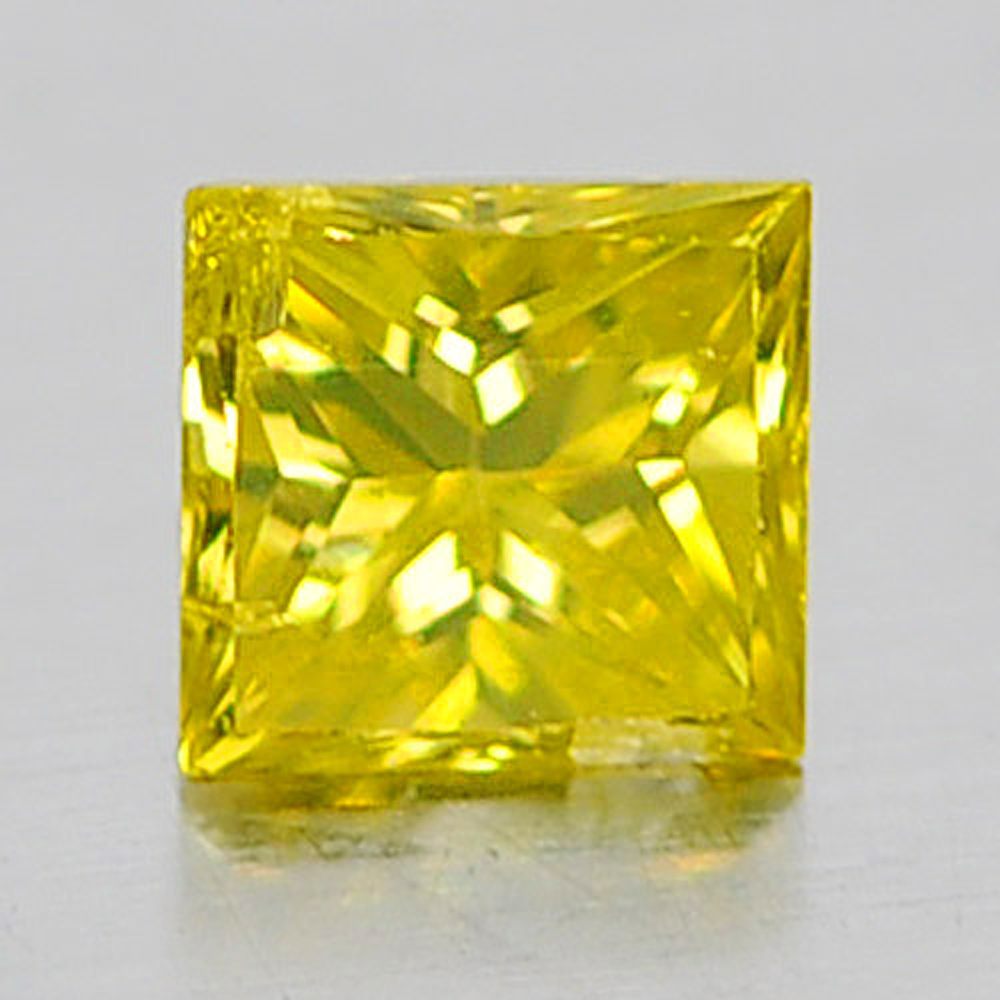 0.11 Ct. Attractive Natural Yellow Loose Diamond Baguette Princess Cut