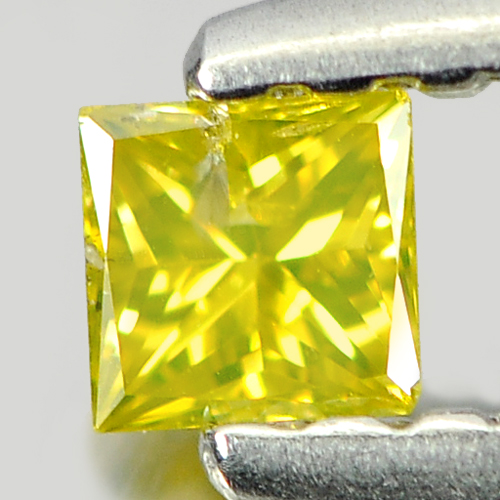 0.11 Ct. Good Color Natural Yellow Loose Diamond Baguette Princess Cut