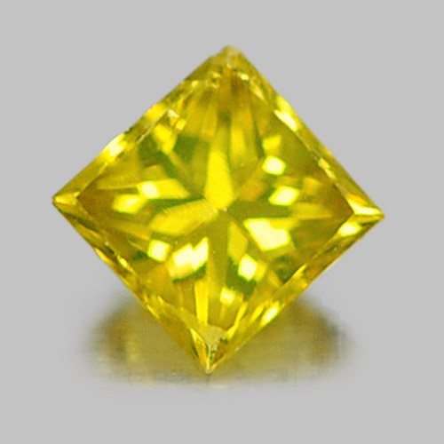 0.11 Ct. Natural Yellow Loose Diamond Baguette Princess Cut From Belgium