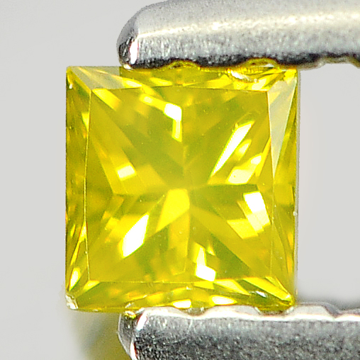 0.13 Ct. Baguette Princess Cut Natural Yellow Loose Diamond
