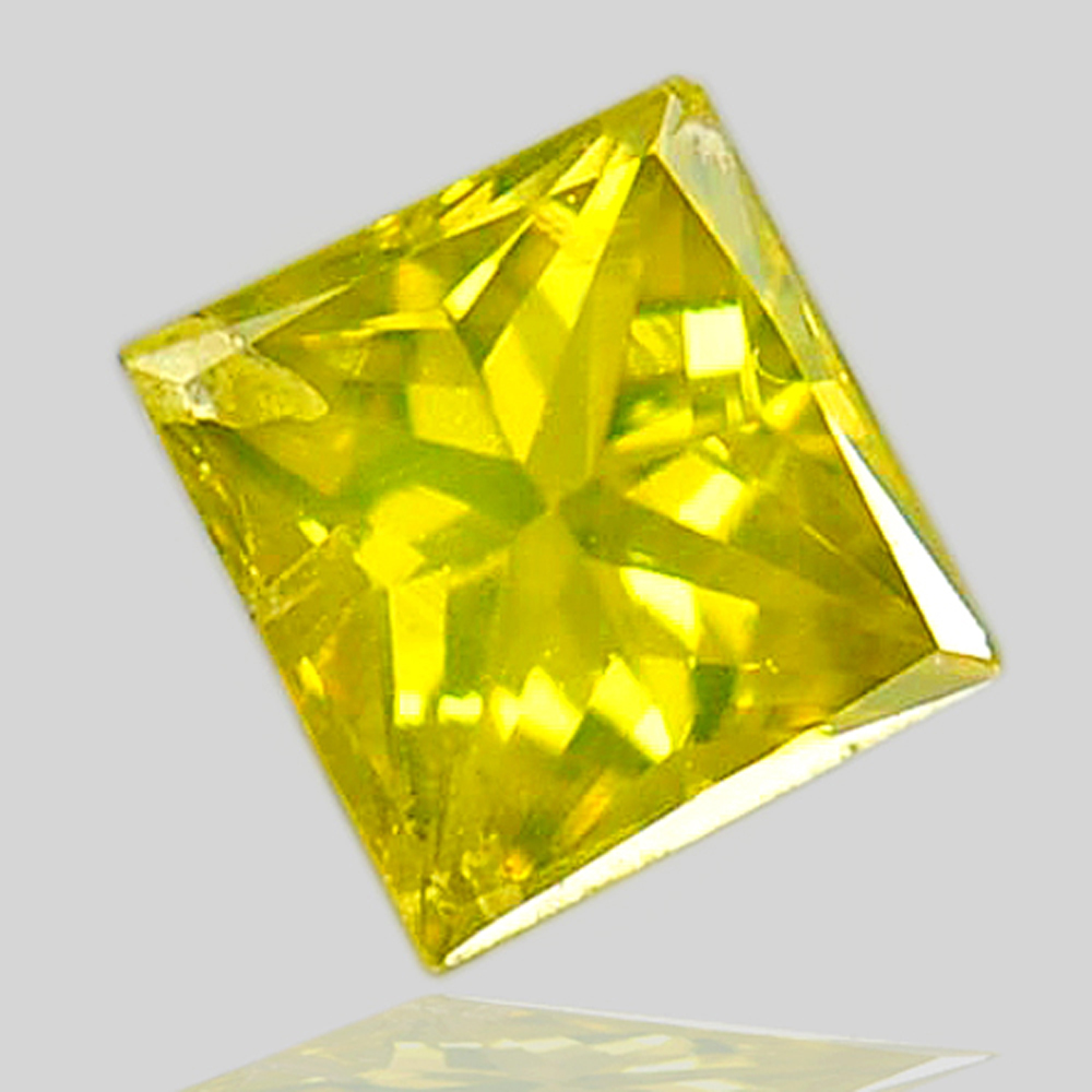 0.11 Ct. Baguette Princess Cut Natural Yellow Loose Diamond