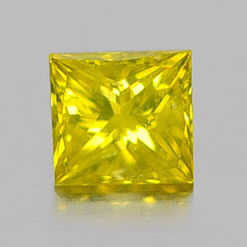 0.11 Ct. Charming Baguette Princess Cut Natural Yellow Loose Diamond Belgium