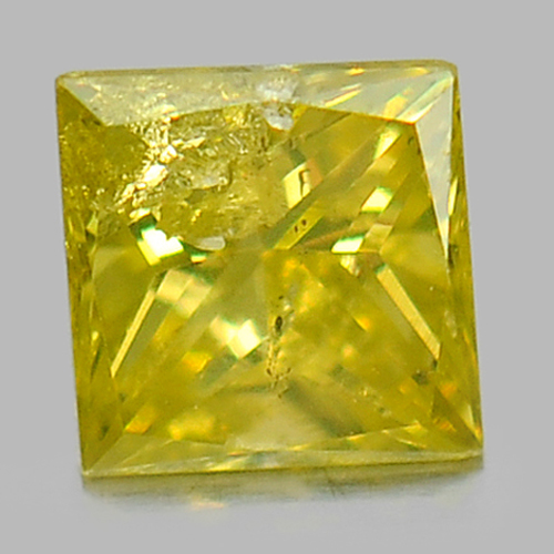 0.10 Ct. Baguette Princess Cut Natural Yellow Loose Diamond Good Color