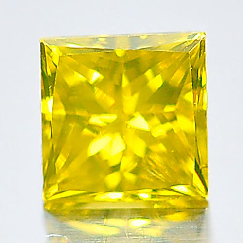 0.12 Ct. Baguette Princess Cut Natural Yellow Color Loose Diamond