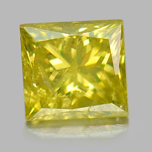 0.10 Ct. Baguette Princess Cut Natural Yellow Loose Diamond From Belgium
