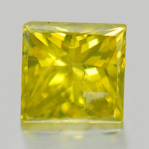 0.10 Ct. Alluring Baguette Princess Cut Natural Yellow Loose Diamond