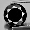 7.19 Ct. Round 11.2 Mm. Natural Black Loose Diamond