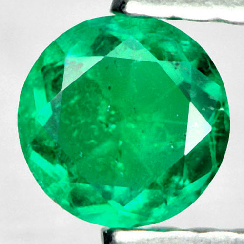 0.25 Ct. Round Shape 4.5 Mm Natural Gem Green Emerald From Columbia