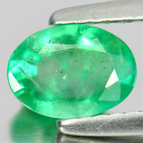 0.78 Ct. Alluring Oval Natural Gem Green Emerald Unheated