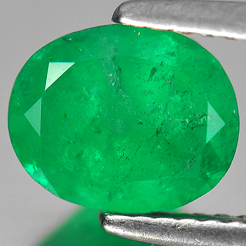 1.44 Ct. Oval Shape Natural Gemstone Rich Green Emerald Columbia Unheated