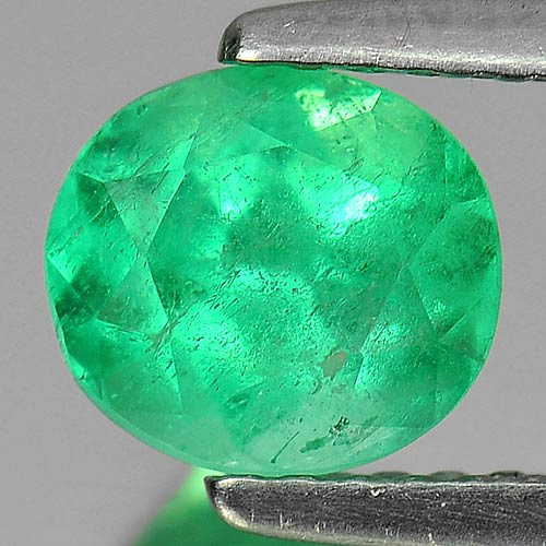 1.20 Ct. Oval Natural Rich Green Emerald Columbia Gem