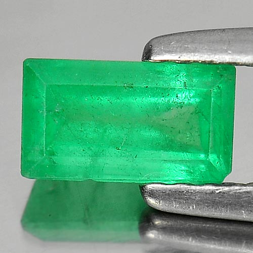Unheated 0.71 Ct. Octagon Natural Rich Green Emerald