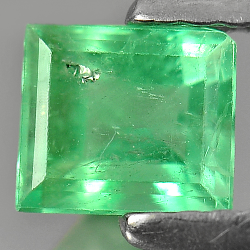 Unheated 0.65 Ct. Octagon Natural Rich Green Emerald