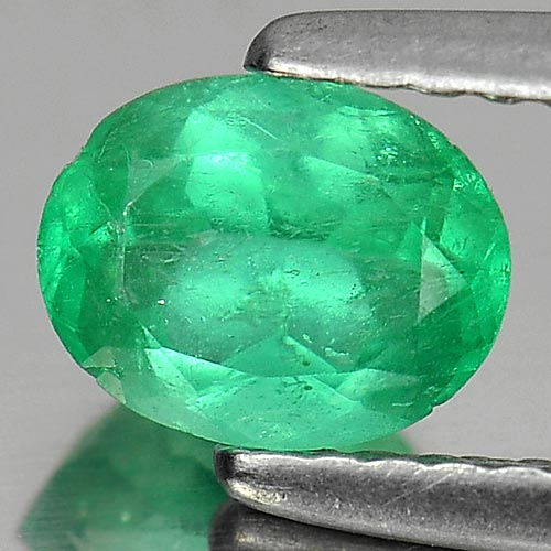 0.65 Ct. Oval Shape Natural Green Emerald Gemstone Unheated