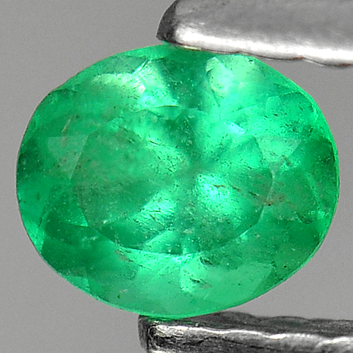0.29 Ct. Natural Green Emerald Gemstone Oval Shape Unheated