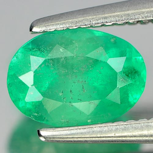 0.79 Ct. Stunning Natural Gemstone Green Emerald Oval Shape Size 7 x 5 Mm.