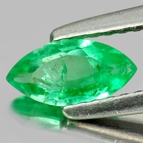 Unheated 0.41 Ct. Natural Gemstone Green Emerald Marquise Shape Columbia