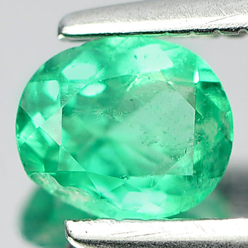 0.35 Ct. Vivid Oval Shape Natural Green Emerald Gemstone Unheated