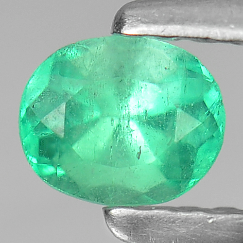 0.33 Ct. Natural Gemstone Green Emerald Oval Cut Unheated
