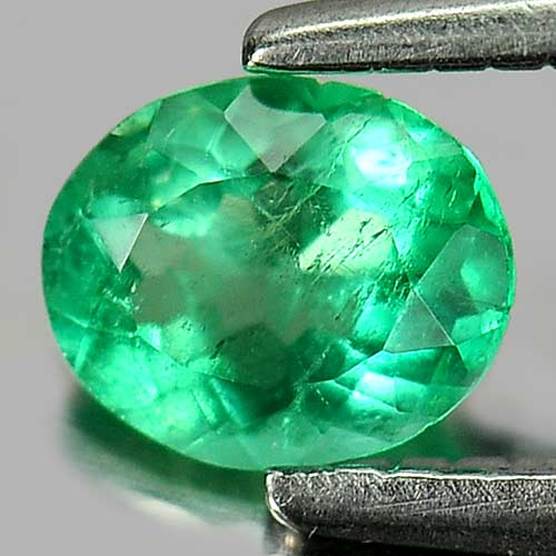 0.26 Ct. Oval Shape Natural Green Emerald Gemstone
