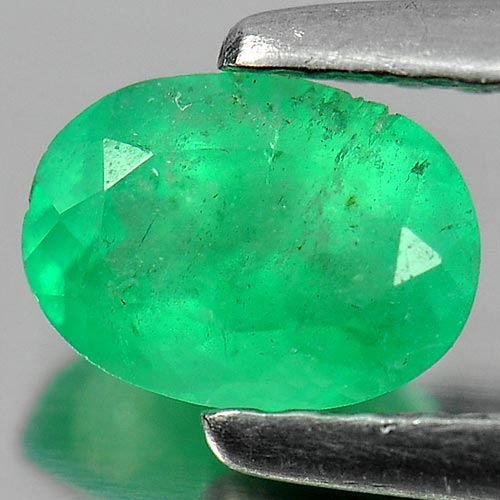 0.56 Ct. Natural Gemstone Green Emerald Oval Shape Unheated
