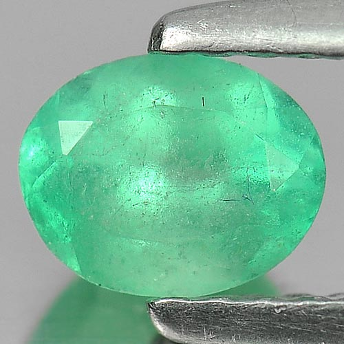 0.50 Ct. Oval Shape 5.7 x 4.5 Mm. Natural Gemstone Green Emerald Unheated