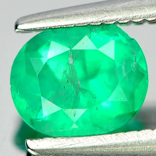 0.55 Ct. Nice Natural Gem Green Emerald Oval Shape Unheated