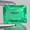 0.65 Ct. Baguette Natural Rich Green Emerald Unheated