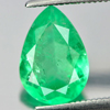 2.04 Ct. Pear Natural Gem Green Emerald From Columbia