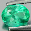 0.72 Ct. Oval Shape Natural Gemstone Green Emerald Unheated