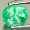 0.41 Ct. Oval Shape Natural Gem Green Emerald Columbia Unheated