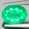 1.30 Ct. Oval Shape Natural Green Emerald Gemstone Unheated