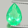0.92 Ct. Pear Shape Natural Green Emerald From Columbia