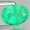 1.13 Ct. Natural Green Emerald Gemstone Oval Shape Size 8 x 6 Mm.