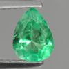0.72 Ct. Pear Shape Natural Green Emerald Gem Unheated