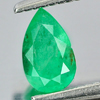 0.33 Ct. Pear Shape Natural Gemstone Green Emerald Columbia