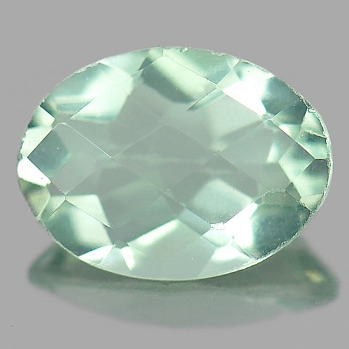 Unheated 1.19 Ct. Oval Checkerboard Natural Green Flourite From Brazil