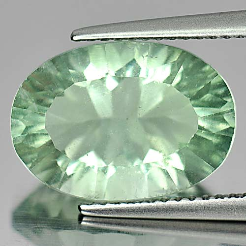 Top Color 6.94 Ct. Oval Natural Green Fluorite Gems