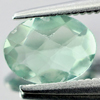 0.87 Ct. Oval Checkerboard Natural Gemstone Green Fluorite From Brazil Unheated