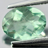 1.35 Ct. Oval Checkerboard Natural Gemstone Green Flourite From Brazil Unheated