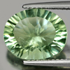 4.90 Ct. Oval Concave Cut Natural Gemstone Green Fluorite From Brazil Unheated
