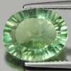 4.52 Ct. Oval Concave Cut 11.9 x 10 Mm. Natural Gemstone Green Fluorite Unheated