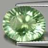 4.33 Ct. Oval Concave Cut Natural Gemstone Green Fluorite Unheated