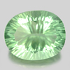 39.74 Ct. Natural Green Fluorite Oval Concave Cut Unheated
