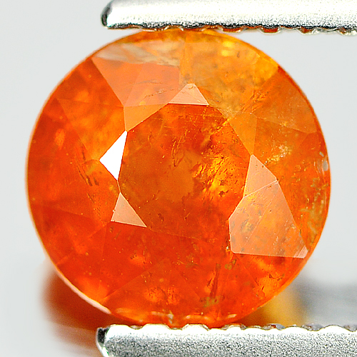 1.61 Ct. 6.6 Mm. Round Natural Mandarin Garnet Unheated